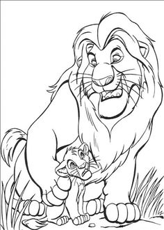 236x330 Male And Female Lions Coloring Page Lion Coloring Page