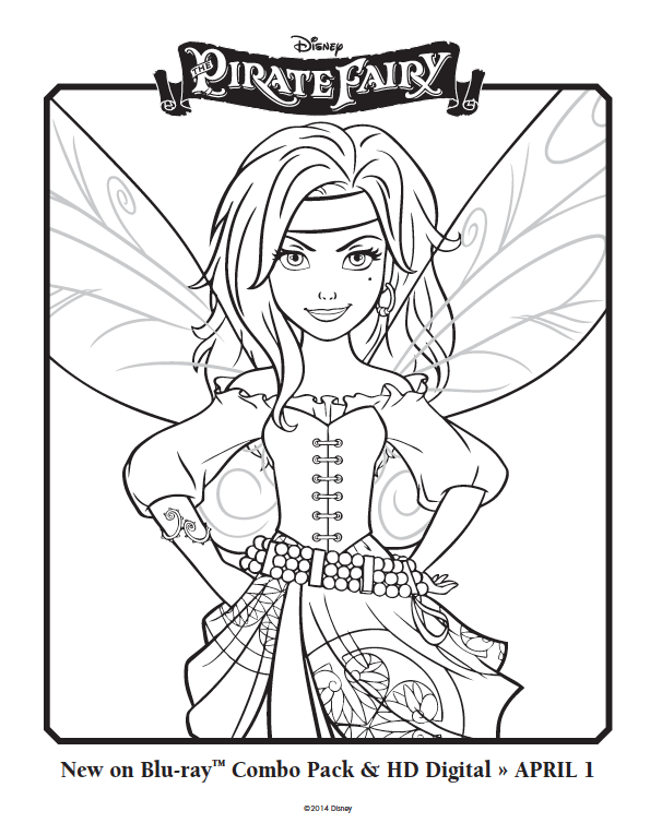 595x754 Free Pirate Fairy Coloring Pages