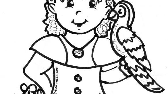 585x329 Girl Pirate Coloring Pages Hazel Mitchell Children S Illustrator