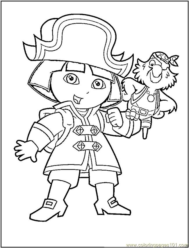 650x853 Pirate Coloring Pages
