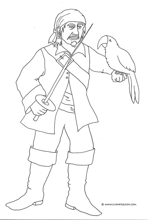 501x743 Pirate Coloring Pages