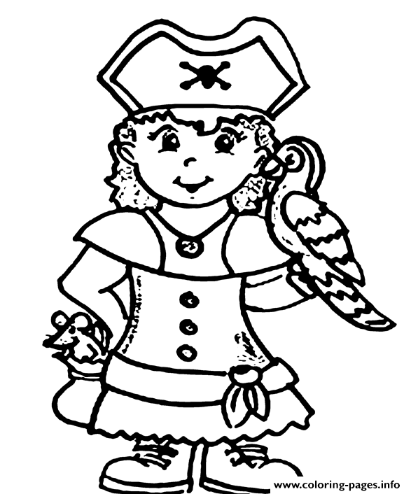 587x706 A Pirate Girl Coloring Pages Printable