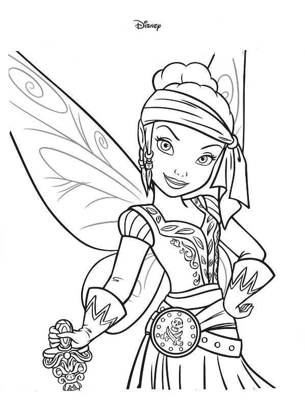 598x785 Coloring Page Tinkelbell Pirate Fairy