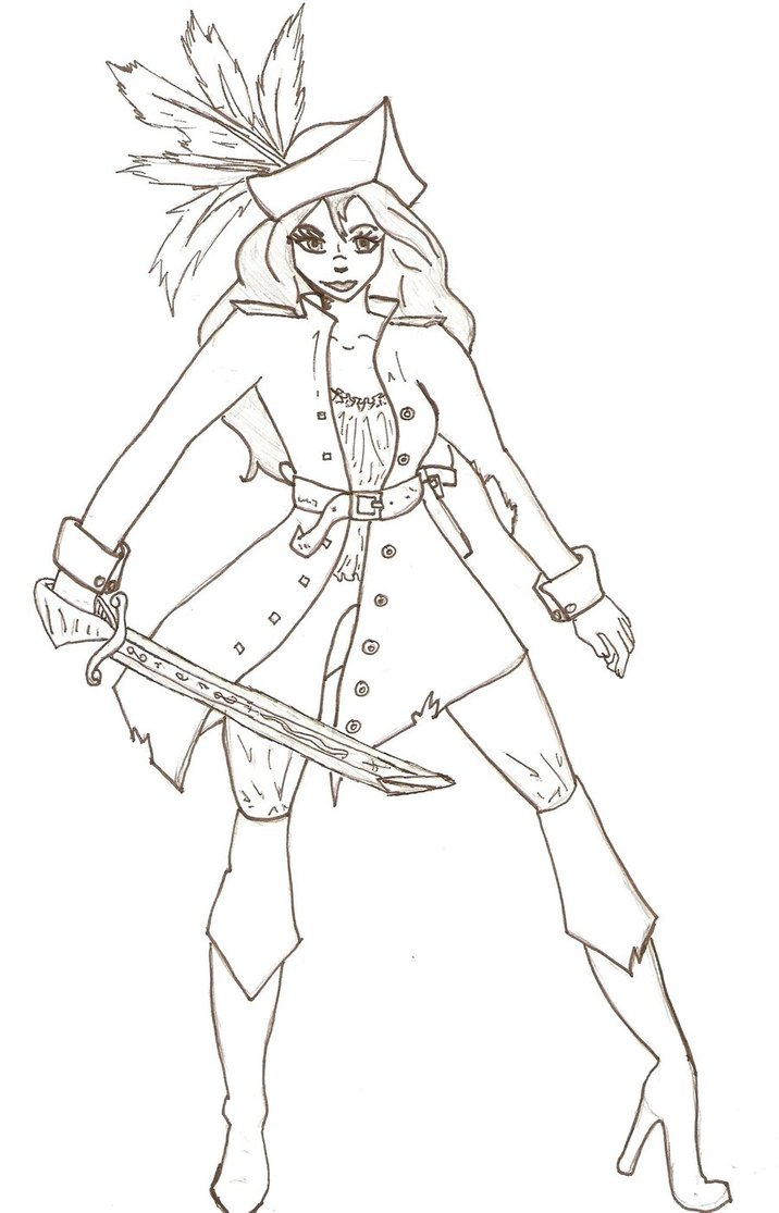 716x1115 Girl Pirate Coloring Pages Inspiring Bridal Shower Ideas Girl