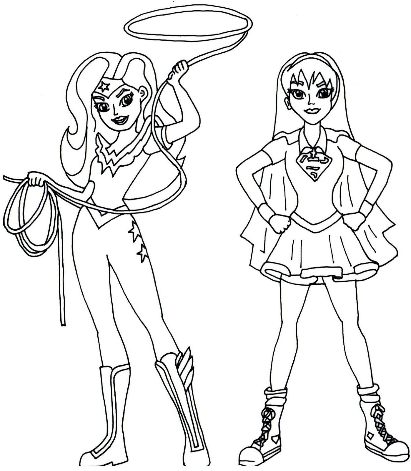 1397x1600 Girl Superhero Coloring Page Free Printable Super Hero High