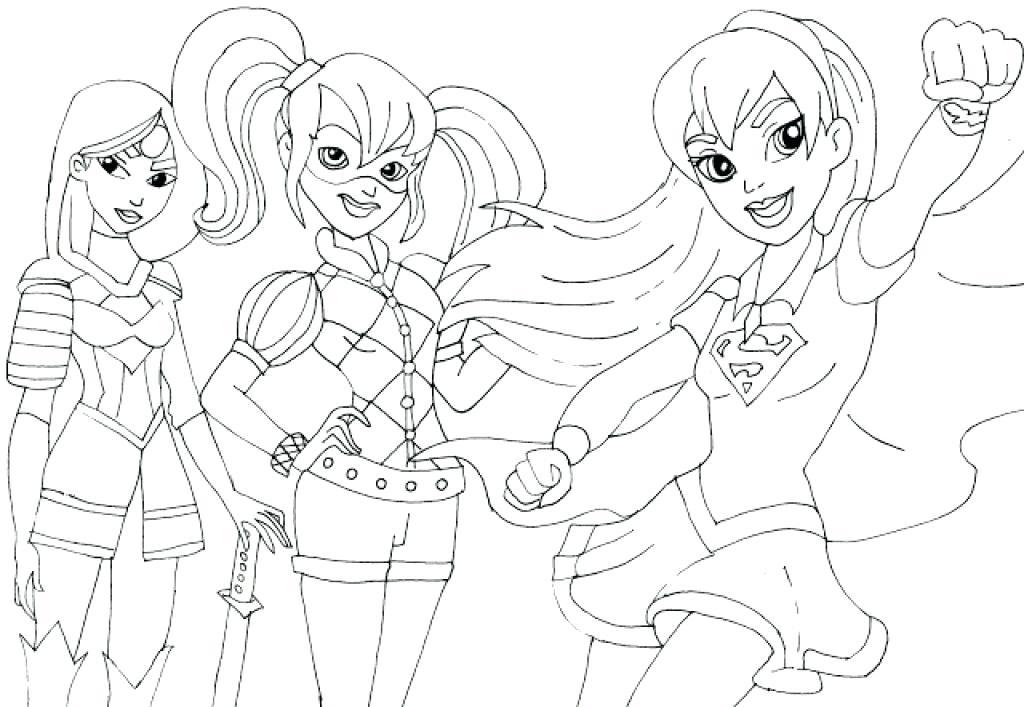 1024x707 Super Hero Girl Coloring Sheets