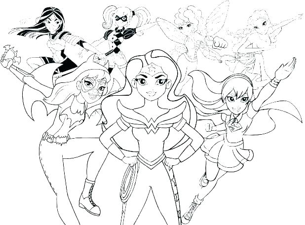 Female Superhero Coloring Pages At Getdrawings Free Download