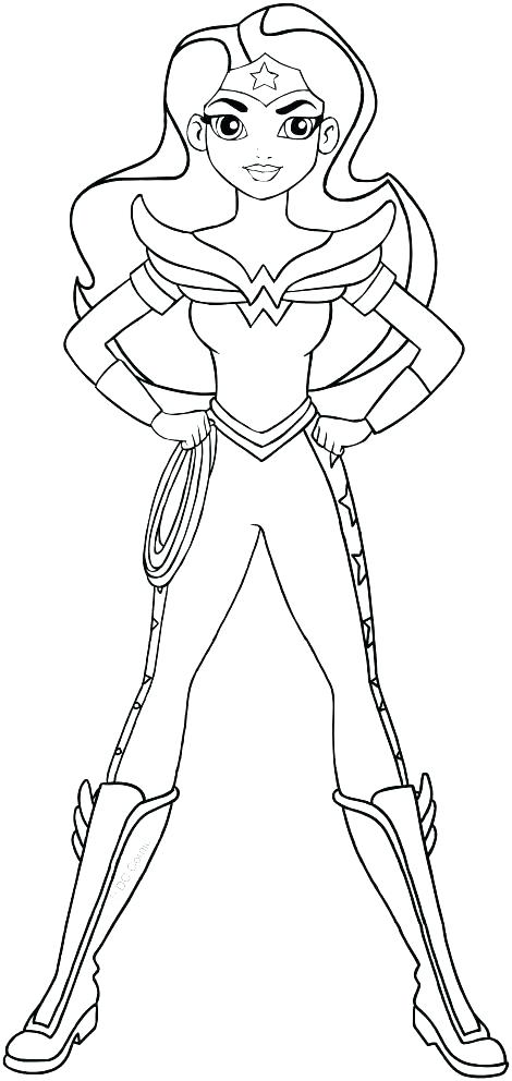 470x992 Superhero Girl Coloring Pages Es Female Superhero Colouring Pages
