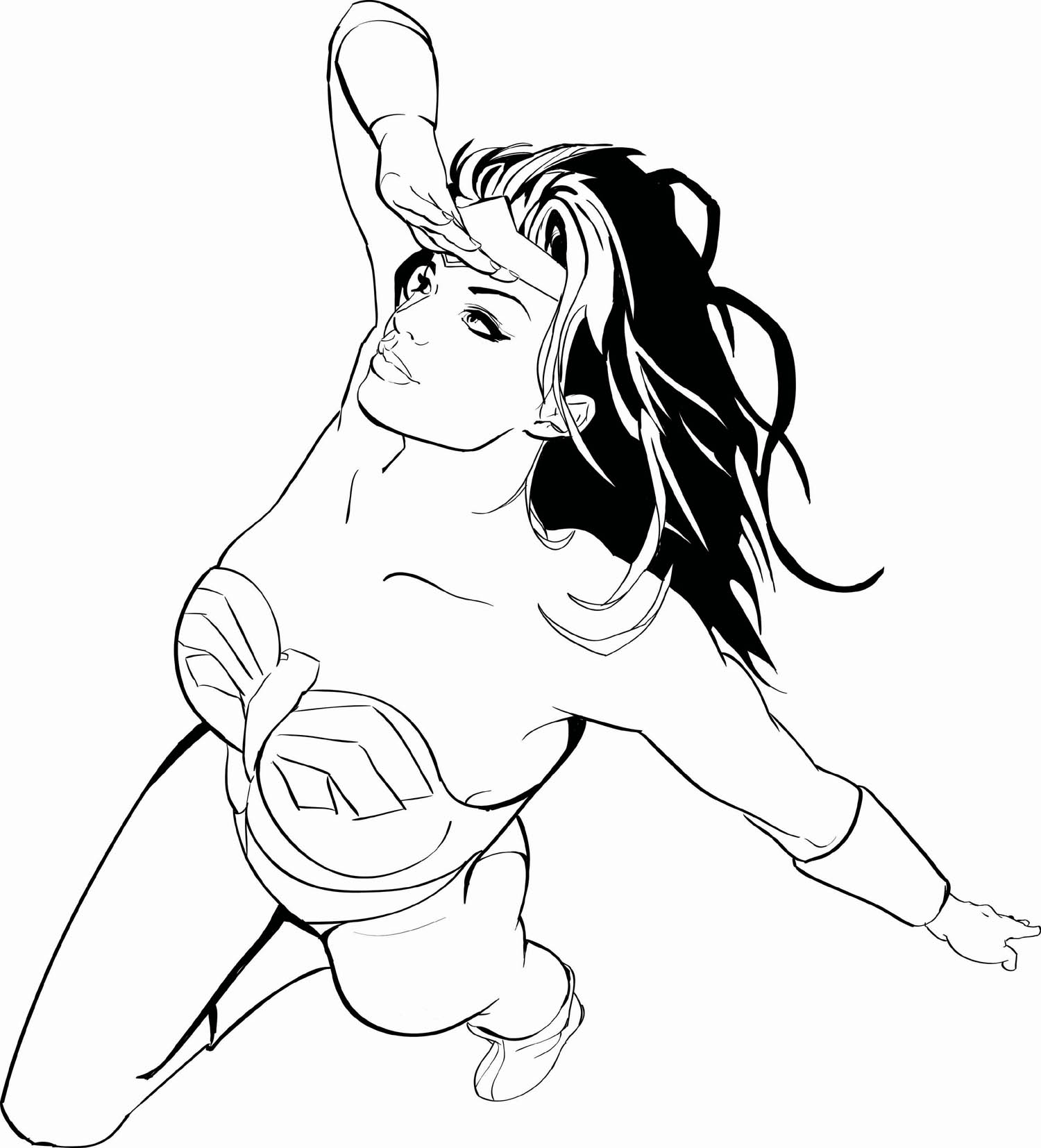 1500x1654 Wonder Woman Superheroes Printable Coloring Pages Throughout