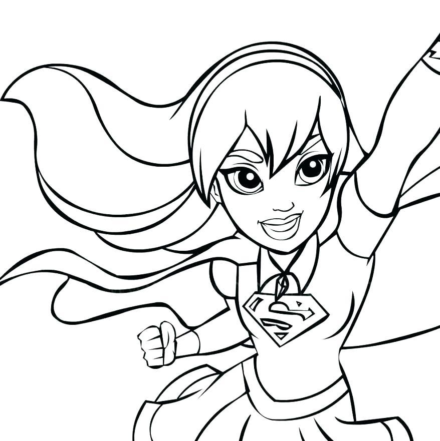 878x881 Dc Superhero Coloring Pages Girl Superhero Coloring Pages Coloring