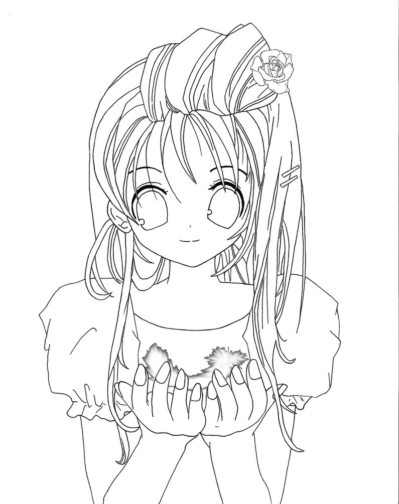 795x1005 Free Coloring Pages Of Ninja Anime Girl On Vampire