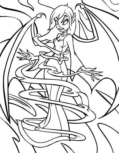 465x598 Scary Coloring Pages