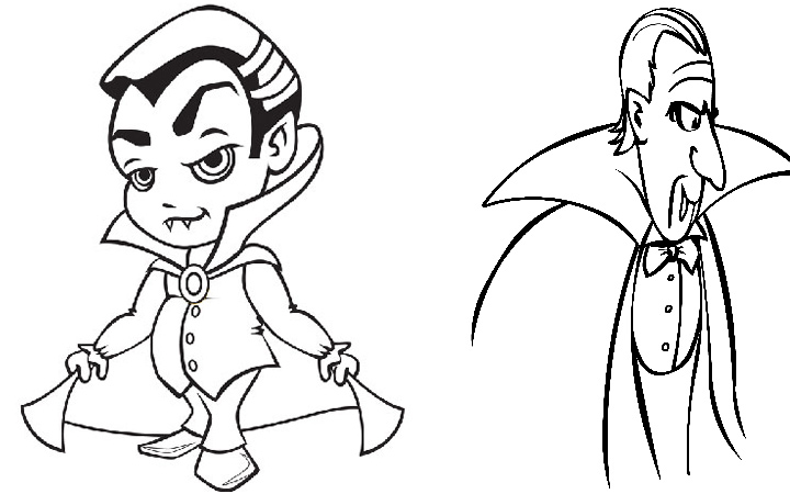 720x450 Vampire Coloring Pages