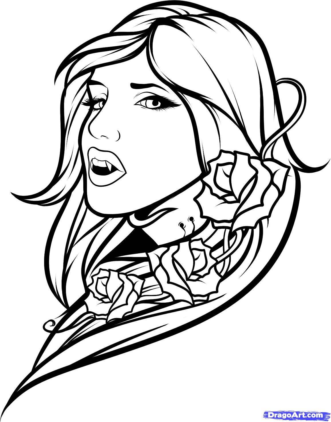 1156x1474 Vampire Girlvm Colouring Pages Coloring Pages
