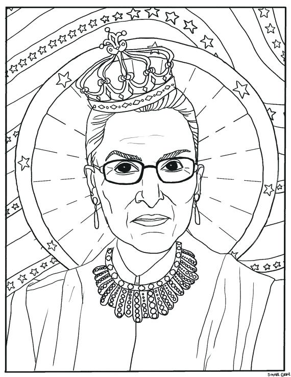 570x738 Drawing At Free For Personal Eleanor Roosevelt Coloring Page