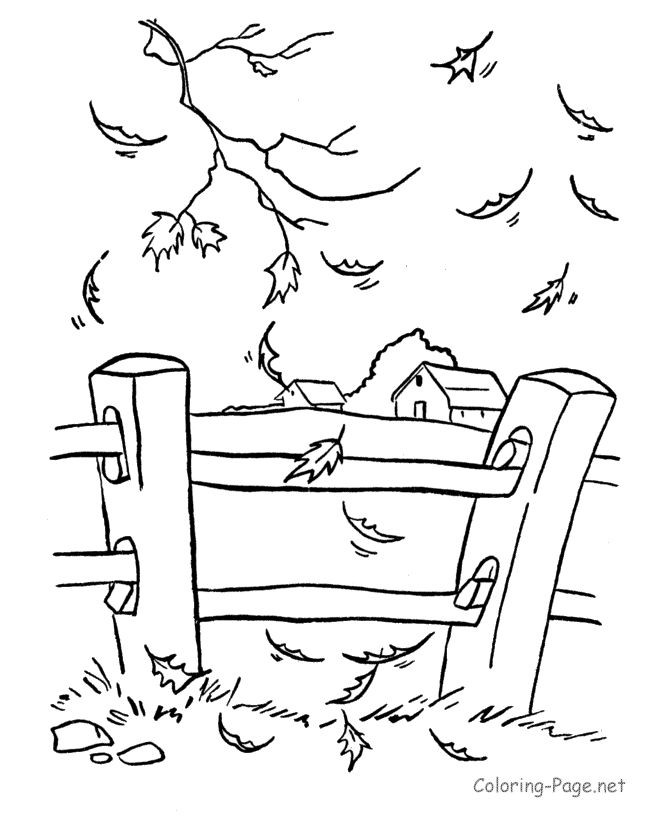 Fence Coloring Page