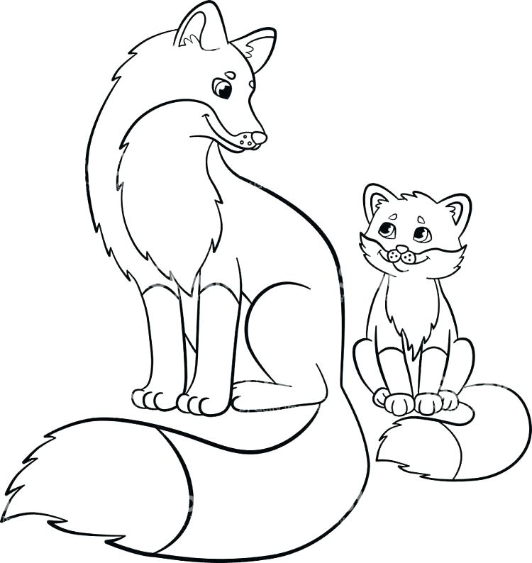 750x794 Baby Fox Coloring Pages Fox Coloring Book As Well As Coloring
