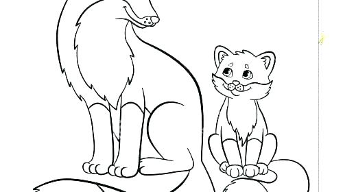 500x280 Baby Fox Coloring Pages Fox Coloring Pages Packed With Fox