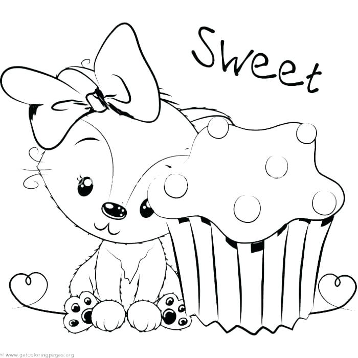 700x700 Baby Fox Coloring Pages