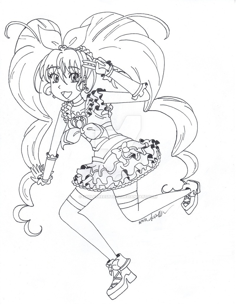 800x1035 Group Of Pin Suite Precure Colouring