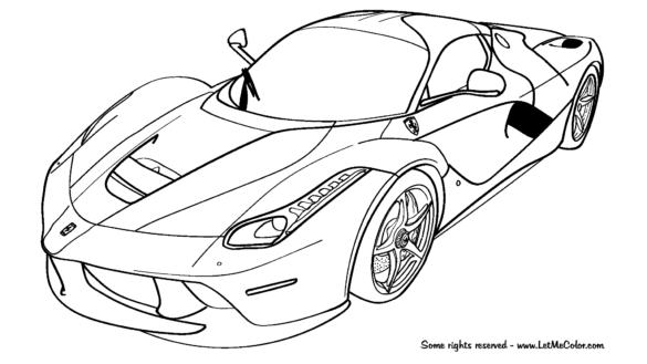585x329 Ferrari Coloring Pages Coloring Pages Mesr Ferrari Coloring