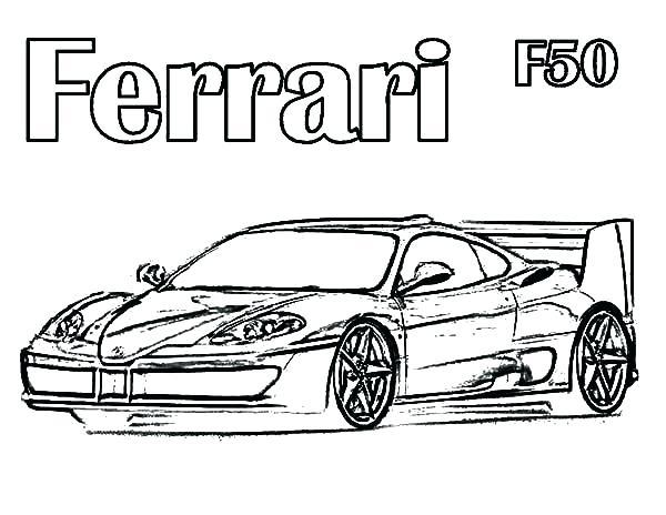 600x464 Ferrari Coloring Pages Ferrari Enzo Coloring Sheets