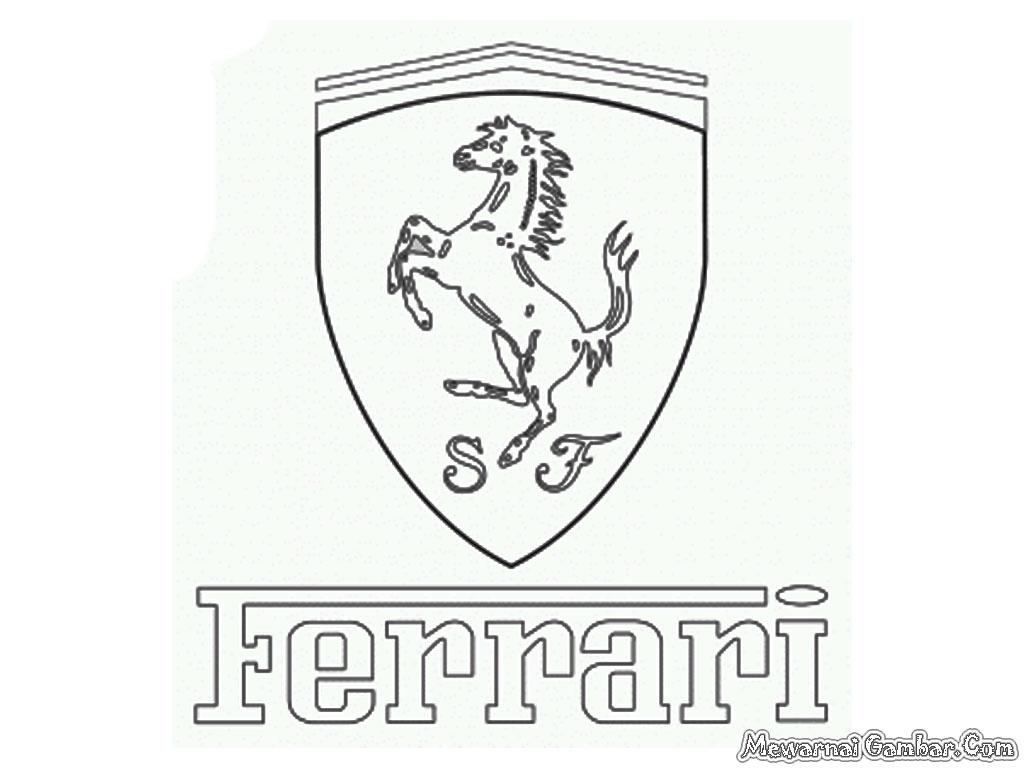1024x768 Ferrari Logo Coloring Cars Boys Race