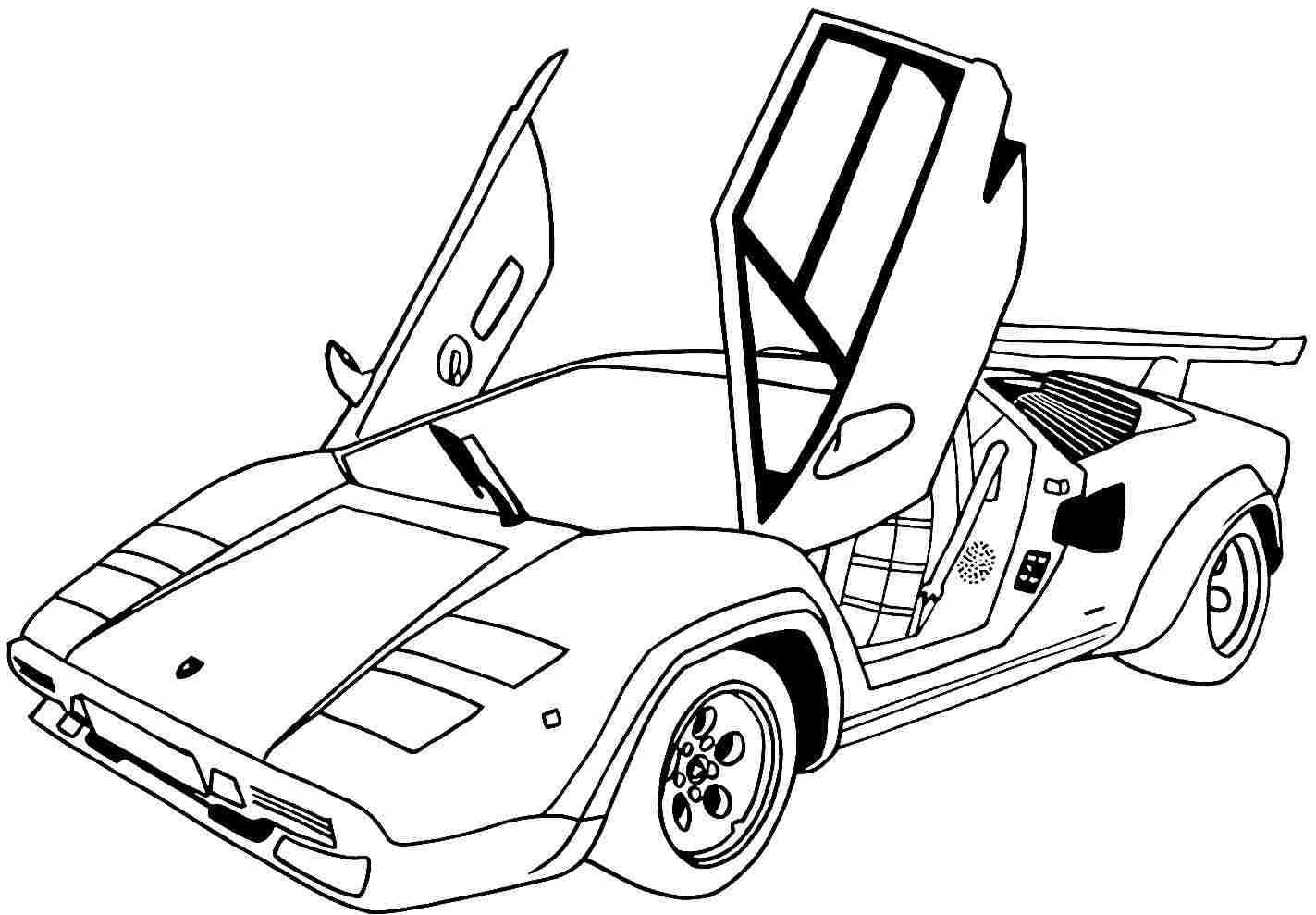 1423x989 Sports Car Coloring Pages With Sports Car Coloring Pages