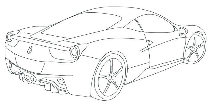 700x346 Ferrari Drawing
