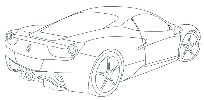 700x346 Coloring Pages Ferrari Cars Coloring Pages Printable Coloring