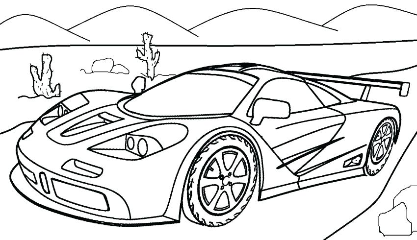 850x490 Coloring Pages Ferrari Cars Sport Car High Speed Coloring Page