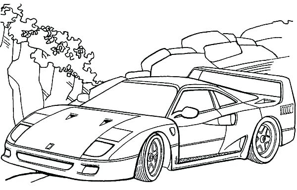 600x384 Coloring Pages Of Ferrari Coloring Pages Ferrari Cars Car Coloring