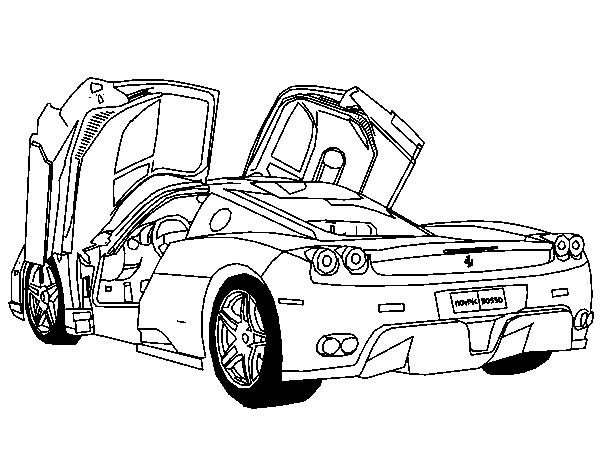 600x450 Ferrari Colouring Pages, Ferrari Car Coloring Pages