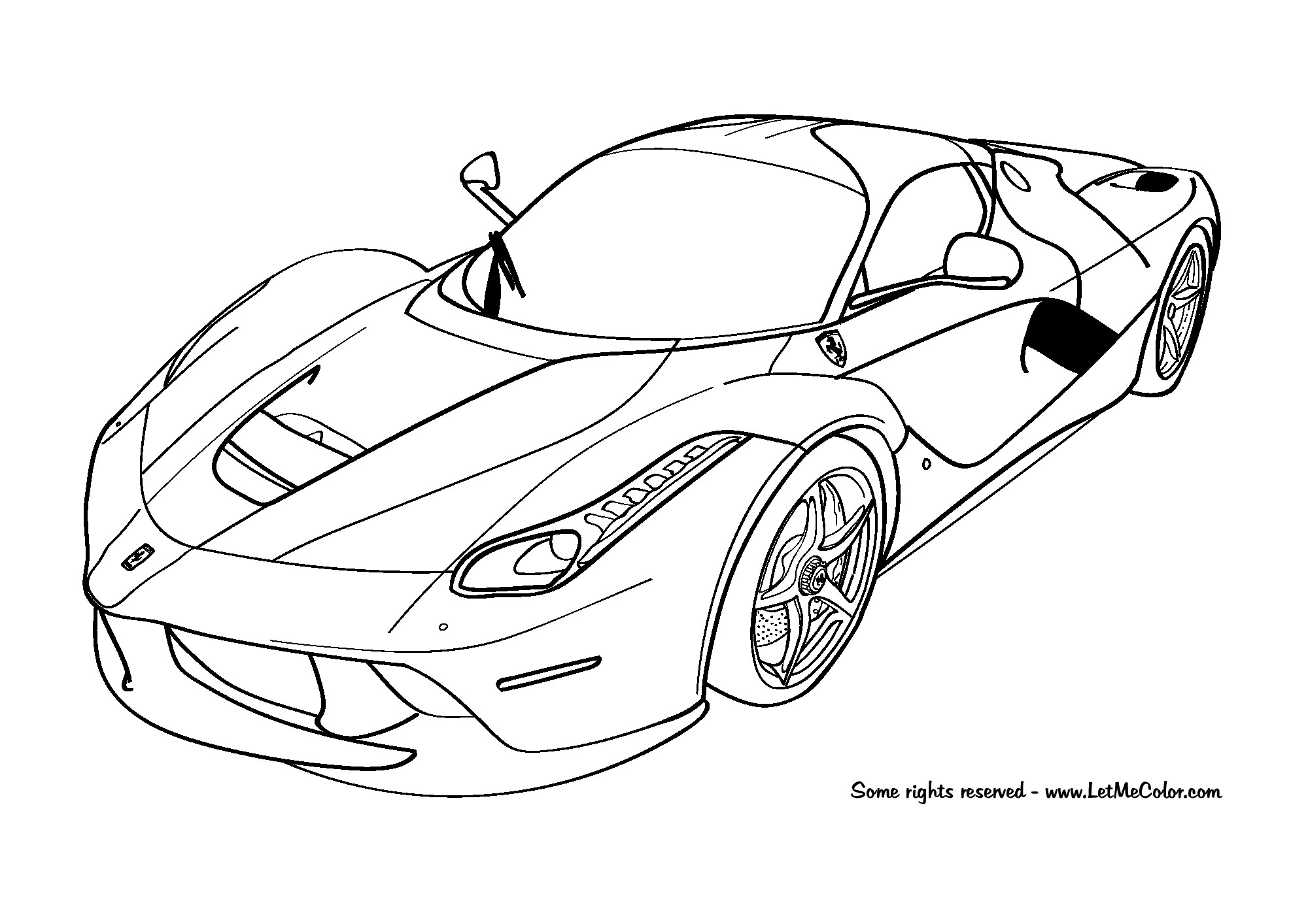 2000x1414 Ferrari Coloring Pages
