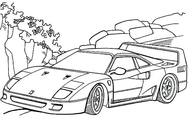 600x384 Ferrari Coloring Pages Images Of Coloring Pages Car Coloring