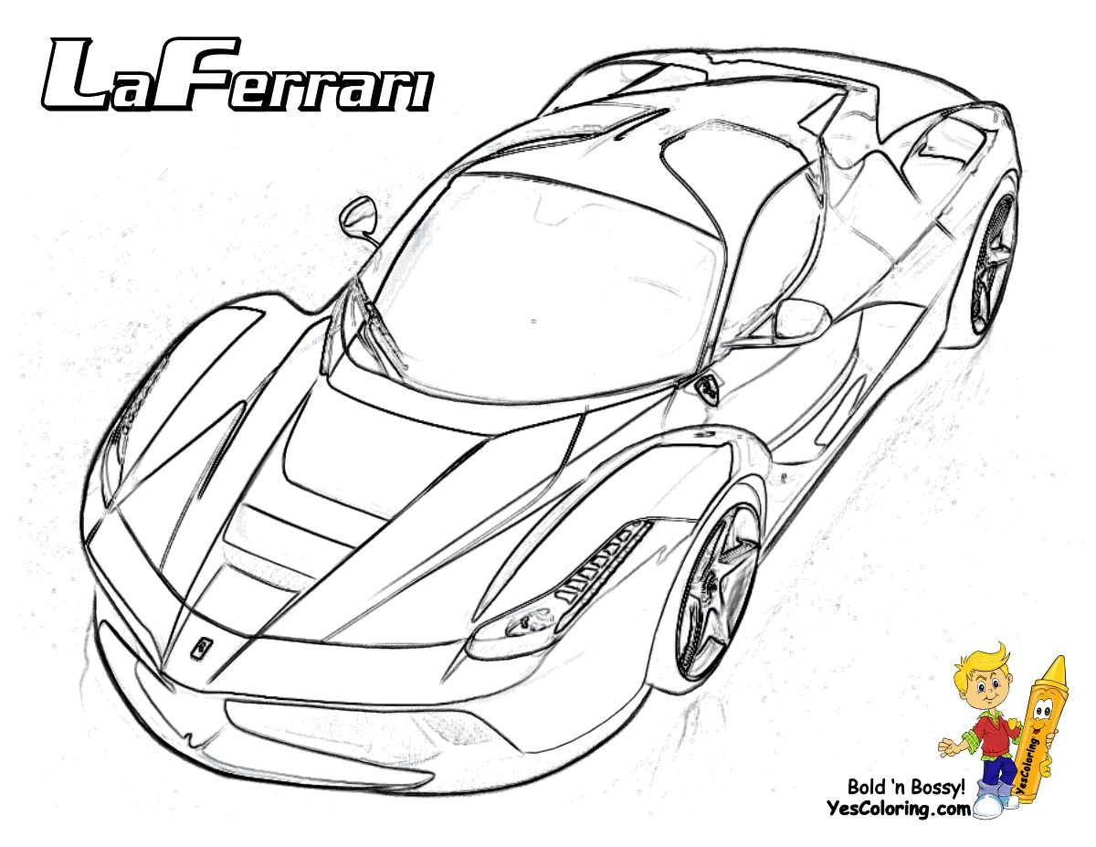 1200x927 Ferrari Coloring Pages Best Of Heart Pounding Ferrari Coloring