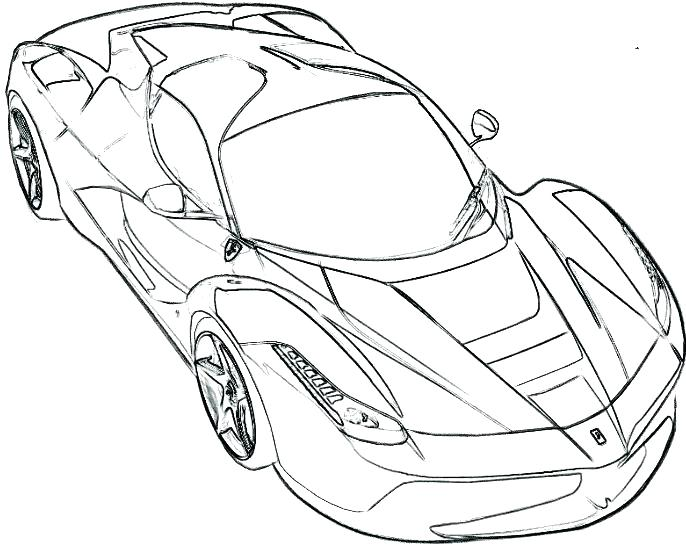 686x557 Ferrari Coloring Pages Ferrari Enzo Coloring Pages