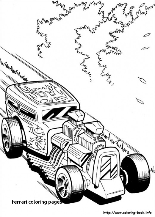 521x730 A Fast Classic Hot Rod Roadster Coloring Page Free Kids