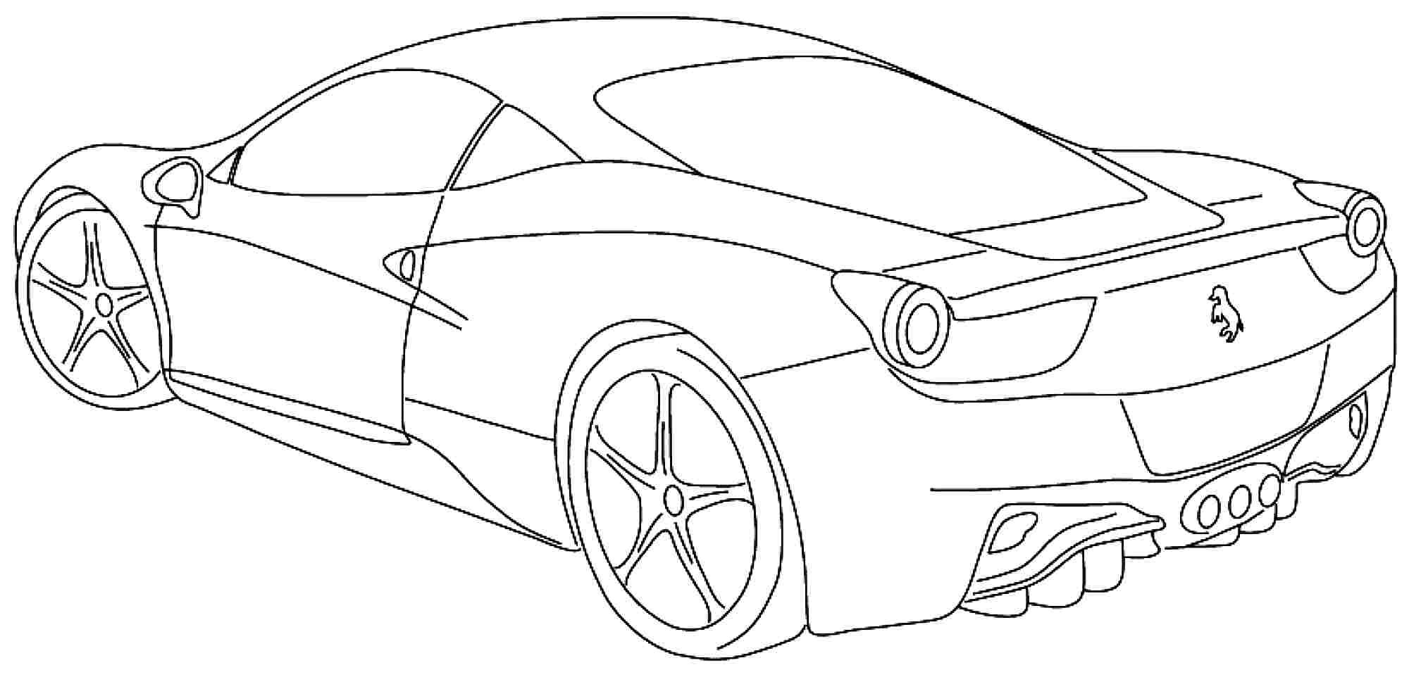 Ferrari Coloring Pages At Getdrawings Free Download