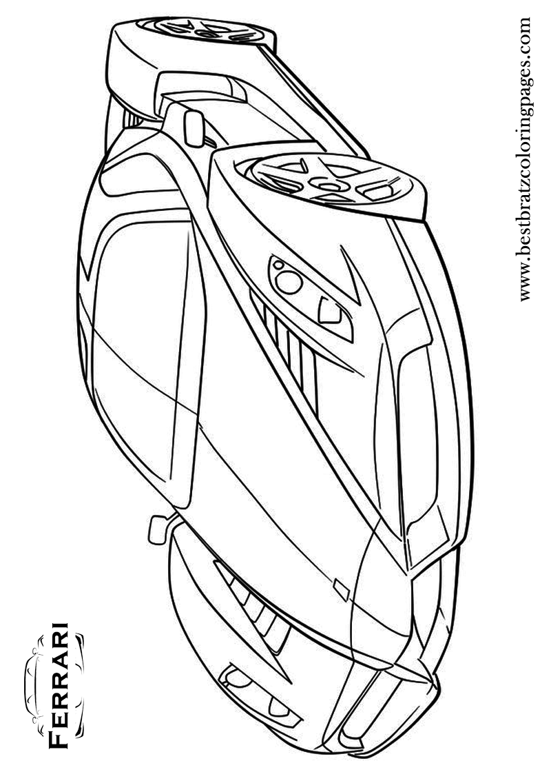 800x1120 Free Printable Ferrari Coloring Pages For Kids Bratz Coloring