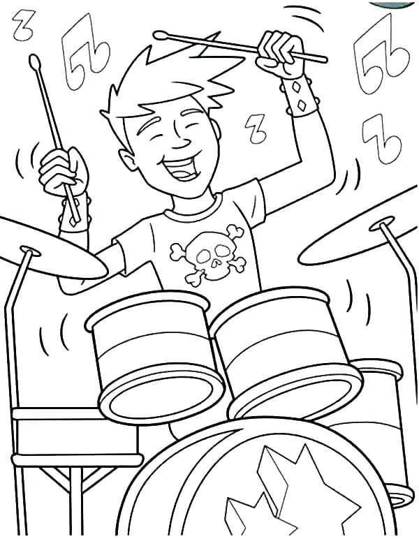 600x772 Drum Coloring Sheet Ferret Coloring Pages Drum Page Drums Snare