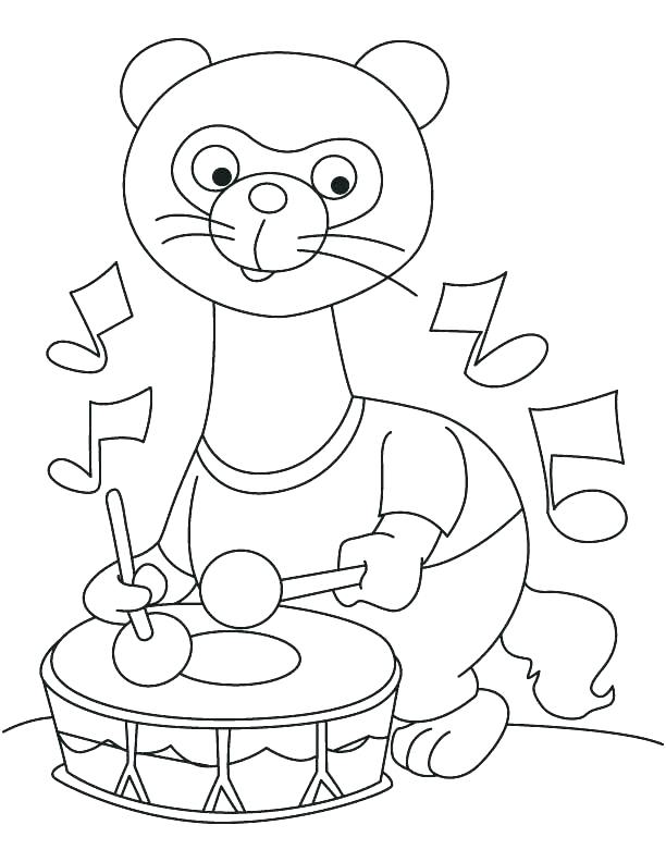 612x792 Coloring Pages Charming Drum Coloring Page Snare Drum Colouring