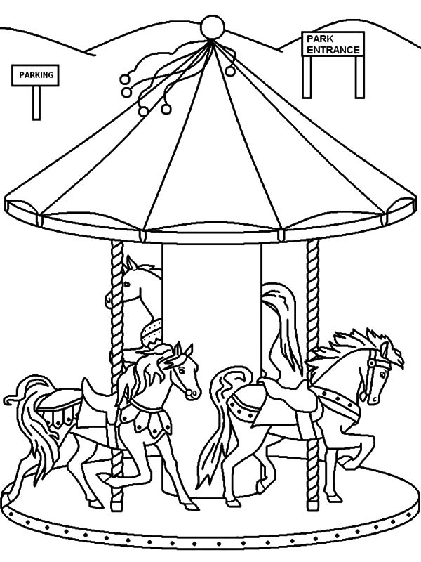 Ferris Wheel Coloring Page