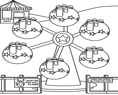 400x322 Ferris Wheel Coloring Elephant Take At The Circus And Carnival
