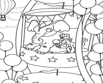 400x322 Ferris Wheel Coloring Page Image Clipart Images