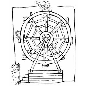 300x300 Ferris Wheel Coloring Page