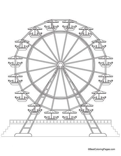 420x542 Ferris Wheel Coloring Page Download Free Ferris Wheel Coloring