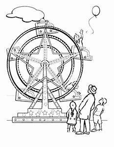 233x300 Ferris Wheels, Coloring Sheets