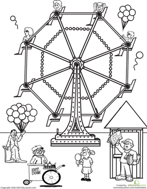 301x386 Color The Carnival Worksheet