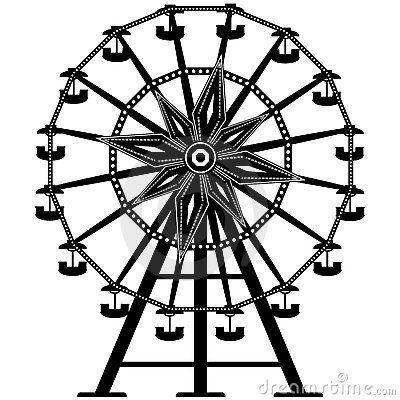 400x400 Detailed Ferris Wheel In Silhouette Diy Ferris